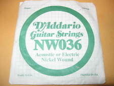 New D'Addario Guitar Strings Acoustic Electric .61 .91mm string nickel wound