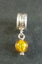 Lovelinks Sterling Silver Gold Drop Charm