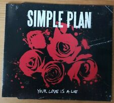 SIMPLE PLAN Your Love Is A Lie  2 track PROMO CD SINGLE