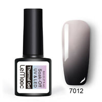 LEMOOC 8ml Nagel Gellack Thermolack Color Changing Soak off Nail Art Gel 7012