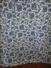 TARGET HOME JACOBEAN BLUE & WHITE FLORAL SHOWER CURTAIN 68 X74