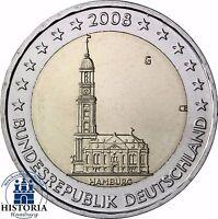 Deutschland 2 Euro Bundesländer Serie - Hamburger Michel 2008 bankfrisch Mzz G