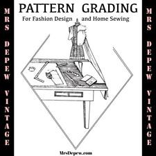 Vintage Sewing Pattern Grading Booklet - How to Grade Patterns to Your Size
