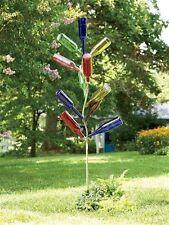 Garden Bottle Tree Metal Yard Decor Wine Art Outdoor Bottles Hardware Glass NEW