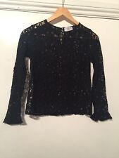 LADIES TOP/BLOUSE BLACK BY L'ATELIER FRENCH DESIGNER SIZE 0