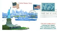 USS NEW YORK LPD-21 Amph. Transport Dock Color Photo Lady Liberty First Day PM