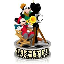2014 Hallmark Lights! Camera! Action! Mickey Mouse and Goofy Ornament NEW IN BOX