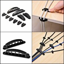 10pc USB Charger Cord Wire Cable Clip Grip Holder Wall Organizer Desktop Plastic