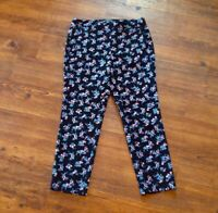 Adrianna Papell Size 10 Floral Pants