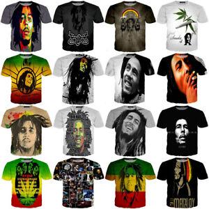 Bob Marley Print Short Sleeve Tops Tee Women Men Casual 3D T-Shirts Summer Shirt