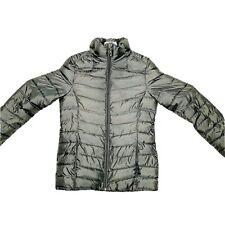 Spyder Prymo Puffer Down Jacket Ski Women's Gray Size Small Zip Pockets