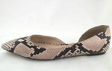 JCREW Snake Embossed Pointy Ballet Flats Shoes Pink/Black US 8 EU 38.5 $138