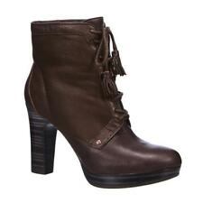 UGG® AUSTRALIA SHEZBIE BROWN LEATHER ANKLE BOOTS UK 5.5 EUR 38 USA 7 RRP £195