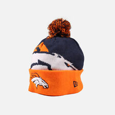 NEW Denver Broncos Beanie Hat NFL New Era Biggie 2 Blue Orange Cap Skully Toque