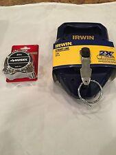 Irwin Strait-Line 150' Reel # 2031311and Husky 25' Chrome Tape Measure #686074