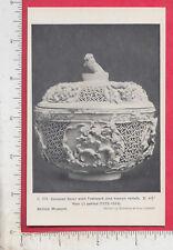 A885 Wan Li period ceramic bowl souvenir postcard British Museum London