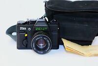 "RARE ZENIT 21XS EXPORT Edition Soviet SLR film camera w/s lens ""Helios 44M-4"" MC"