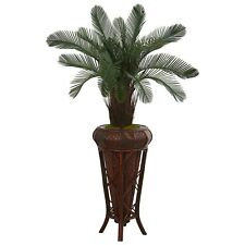 4' Cycas Artificial Tree In Decoorative Stand UV Resistant (Indoor/Outdoor)