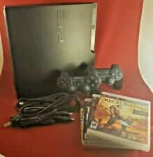 PlayStation 3 Slim (PS3) (CECH-3001A) 160GB Console + Game Bundle ~ Tested