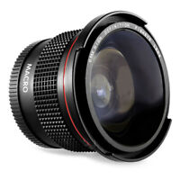 Fit For Canon EOS 80D SLR DSLR Camera 58MM 0.35X Fisheye Wide Angle Macro Lens