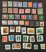 LOT OF 48 POSTAGE STAMPS FROM CANADA COLLECTED IN 1960'S COLLECTION RARE VINTAGE