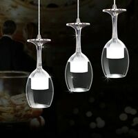 LED Wine Glass Bar Ceiling Light Pendant Lamp Fixture Lighting Chandelier