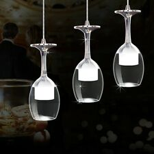 Modern LED Wine Glass Bar Ceiling Light Lamp Pendant Fixture Lighting Chandelier