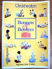 ~CLECKHEATON KNITTING PATTERN BOOK No. 424 - BONNETS & BOOTEES - VGC~