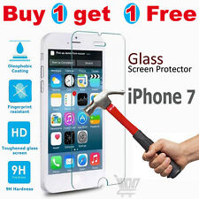 100% GENUINE TEMPERED GLASS FILM SCREEN PROTECTOR PROTECTION APPLE IPHONE 7