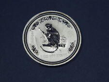 2004 AUSTRALIA  MONKEY .999 FIne SILVER  With Scratches  See Pics