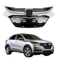 Front Grille Sport Style Chrome Bk Glossy Grill Trim For Honda HR-V HRV 16-18 B4