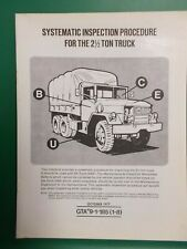 Army 2.5 Ton Truck Systematic Inspection Procedure Book 7 Pages