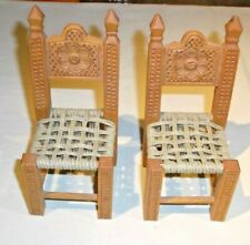 Lot 2 Vintage Wooden Toy Doll Chair Furniture