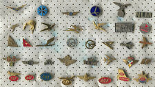 VINTAGE OLD AIRLINES AIRPLANE FLUG AVIATION PIN BADGE LOT 37 PIECES!!!