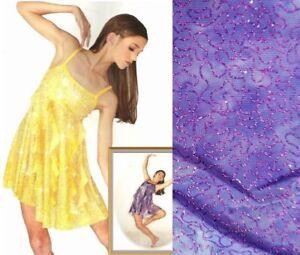 Here I Am PURPLE Dance Tap Costume Glitz Lyrical Dress New Child Small & Medium