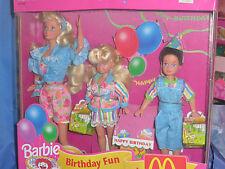 1993 Rarität Geburtstag Birthday at bei McDonald `s Party Barbie Stacie Todd Set