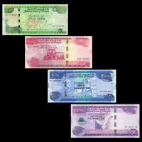 Ethiopia set 4 PCS,10 50 100 200 Birr, 2020, P-New, Banknote, UNC