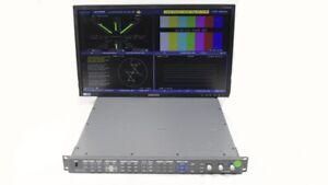 Harris Videotek VTM-4100 PKG Waveform Vector Monitor Opt 10 SD HD Audio A3-OPT-3