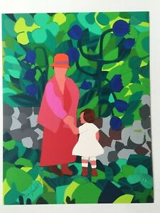 "Gloria Vanderbilt, HAND SIGNED, Art Lithograph, ""Mother and Child"""