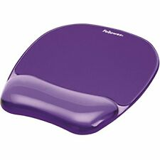 Fellowes Crystals GEL Mouse Mat With Wrist Support Purple