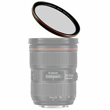 58mm MRC Ultra Thin Multi-coated UV Filter w/ Outer Frame Red Plating + Case