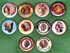 "Iroquois Brewing Beer Ale Buffalo NY 1"" *PINs* (10)  ""CHIEFS"" Logos Lot #5"