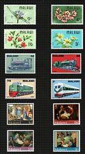 Malawi 1968, 3 sets Wild Flowers, Locomotives & Christmas Paintings sg295/308.