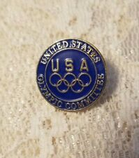 New listing Vintage Collectible Pin: United States Olympic Committee Usa Blue Enamel & Gold