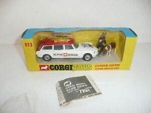Corgi 513 Citroen Safari Alpine Rescue Boxed w/figures & equipment *original*
