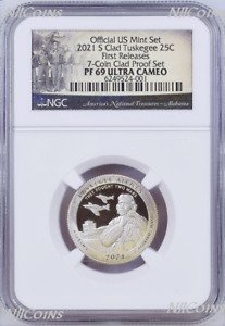 2021 S NGC Tuskegee Airmen CLAD the LAST QUARTER from US Mint Proof Set PF69