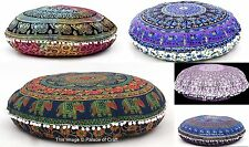 Lot 10 PC Large Mandala Floor Pillow Cover Wholesale Round Cushion Case Sham 32""