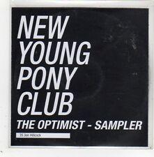 (GE183) New Young Pony Club, The Optimist sampler - 2009 DJ CD