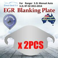 2PCS EGR Blanking Block Off Plates Fit Ford Ranger 3.2 Manual Auto SS304