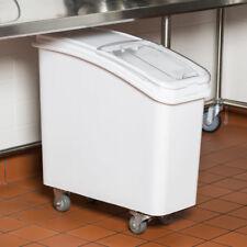 Baker's Mark 21 Gallon White Plastic Mobile NSF Ingredient Storage Bin with Lid